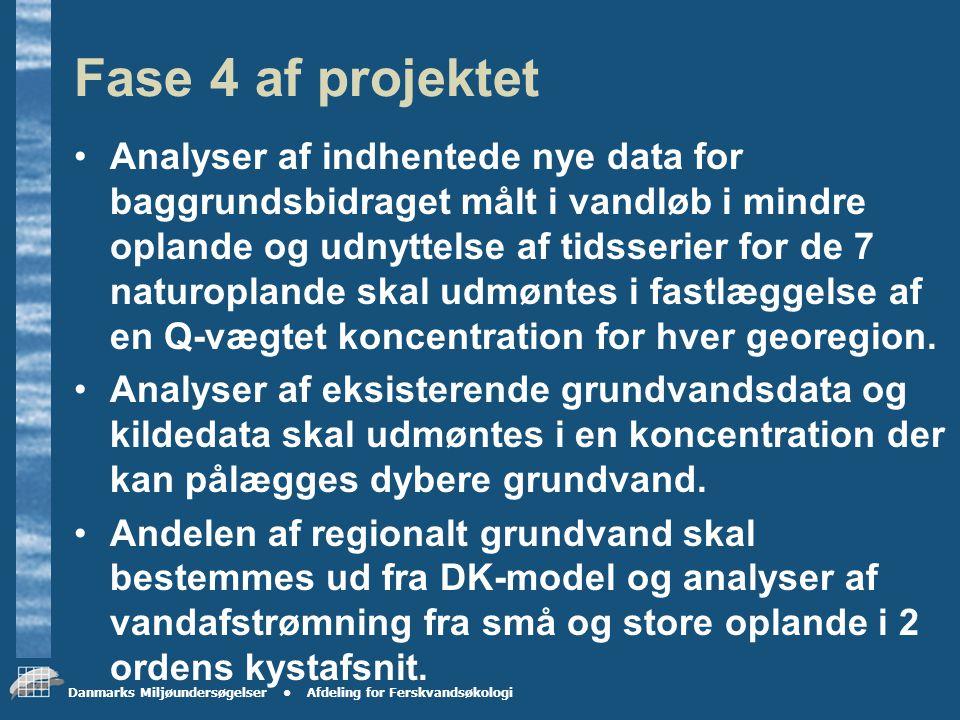 Danmarks Miljøundersøgelser Afdeling for Ferskvandsøkologi Oplæg til koncept Konceptet til opgørelse af baggrundsbidraget af N og P forventes at bestå af to dele: 2.