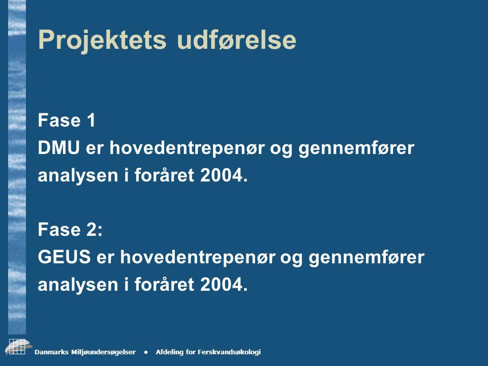 Danmarks Miljøundersøgelser Afdeling for Ferskvandsøkologi Nyt forslag til projekt indlejret under NOVANA til bestemmelse af baggrundstabet af N og P i DK Projektet er et samarbejdsprojekt mellem FEVØ, DMU, GEUS og amterne.