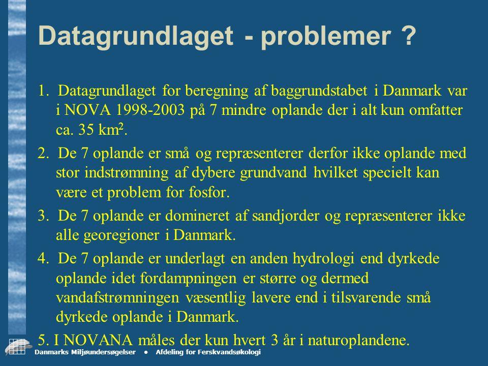 Danmarks Miljøundersøgelser Afdeling for Ferskvandsøkologi Projektets udførelse Fase 4: DMU og GEUS er hovedentrepenører og gennemfører opbygning af konceptet i perioden marts 2005-september 2005.