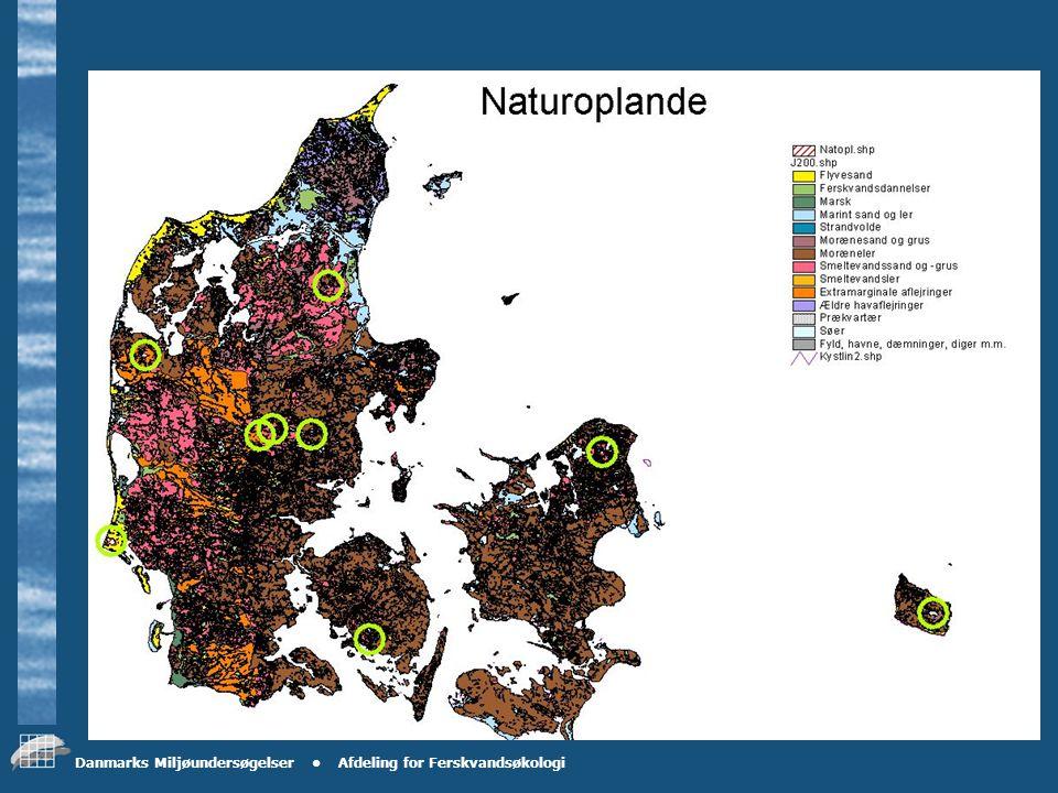 Danmarks Miljøundersøgelser Afdeling for Ferskvandsøkologi Datagrundlaget - problemer .