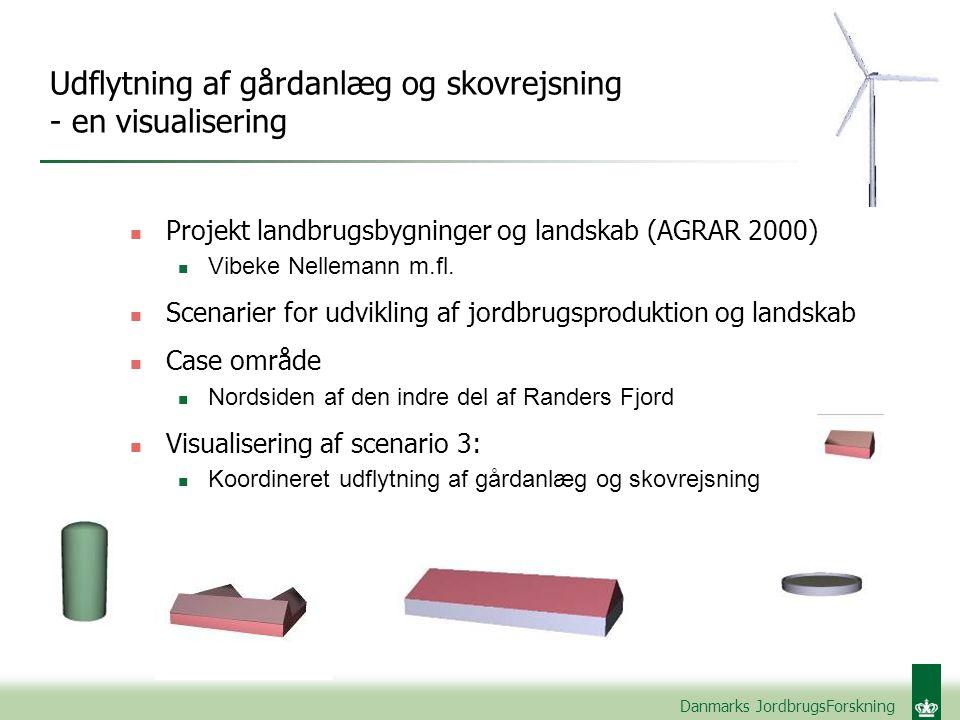 Udflytning af gårdanlæg og skovrejsning - en visualisering n Projekt landbrugsbygninger og landskab (AGRAR 2000) n Vibeke Nellemann m.fl.