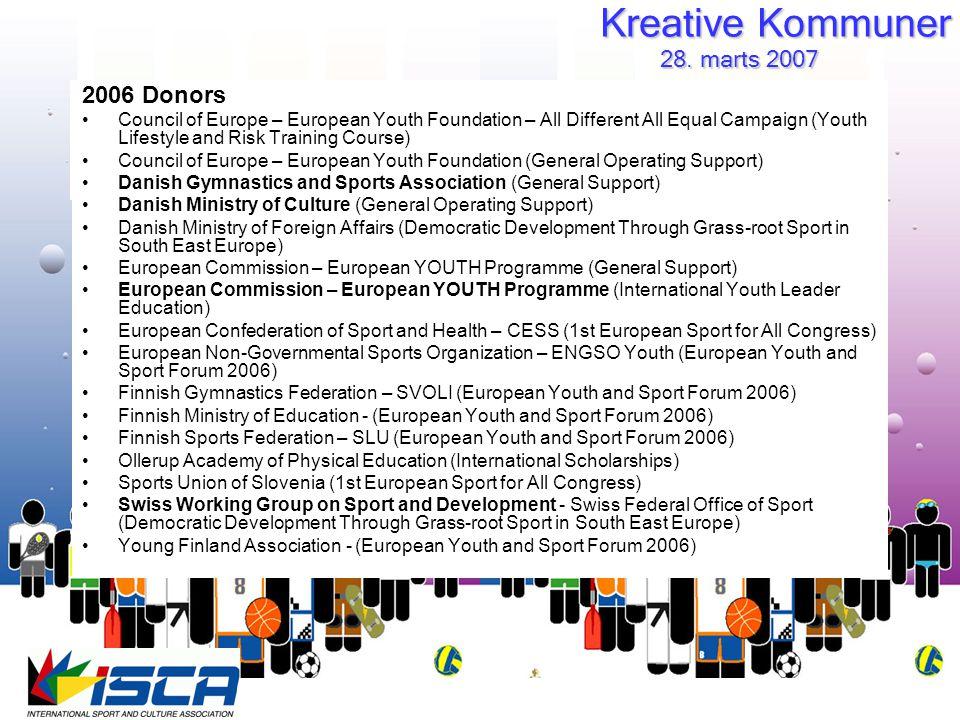 Kreative Kommuner 28. marts 2007 28.