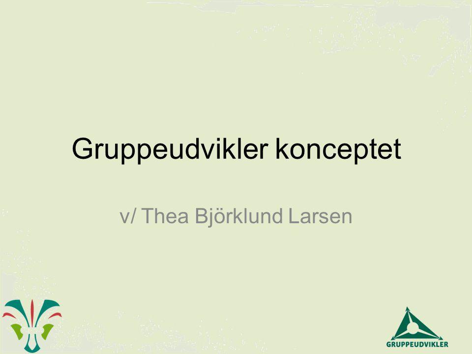 Gruppeudvikler konceptet v/ Thea Björklund Larsen
