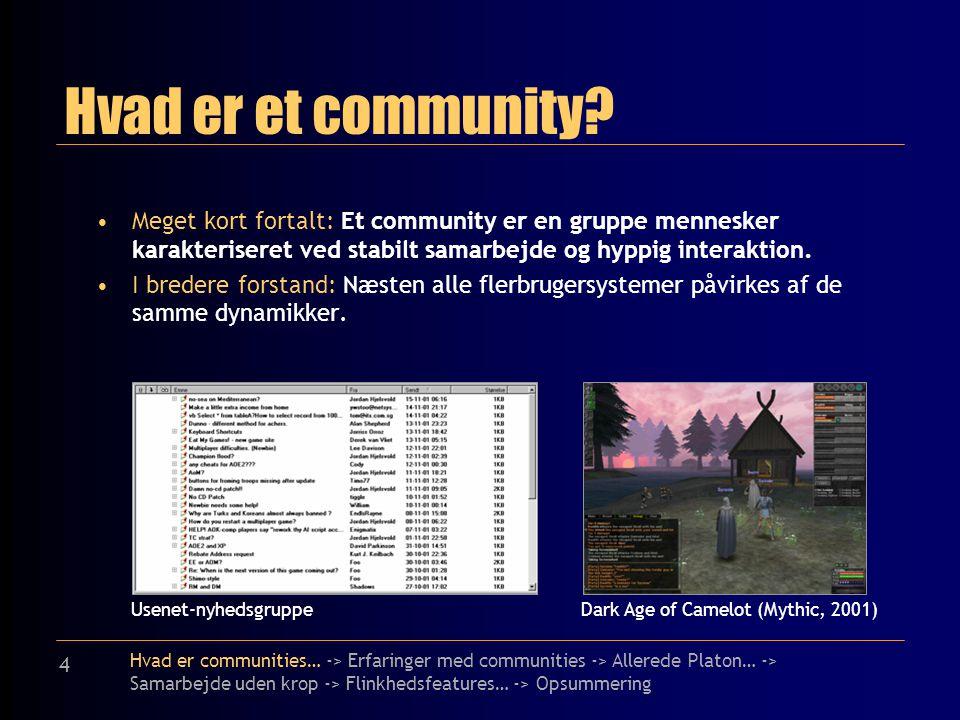 4 Hvad er et community.