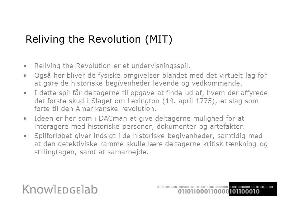 Reliving the Revolution (MIT) Reliving the Revolution er et undervisningsspil.