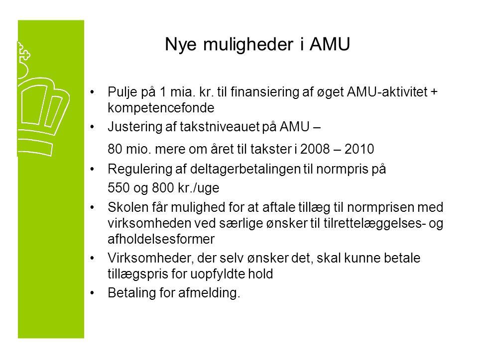 Nye muligheder i AMU Pulje på 1 mia. kr.