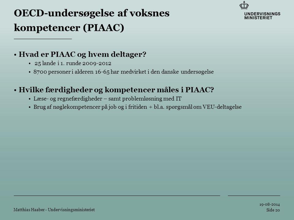 Tilføj hjælpelinier: 1.Højreklik et sted i det grå område rundt om dette dias 2.Vælg 'Gitter og Hjælpelinier...' 3.Tilvælg 'Vis hjælpelinier på skærm' OECD-undersøgelse af voksnes kompetencer (PIAAC) Hvad er PIAAC og hvem deltager.