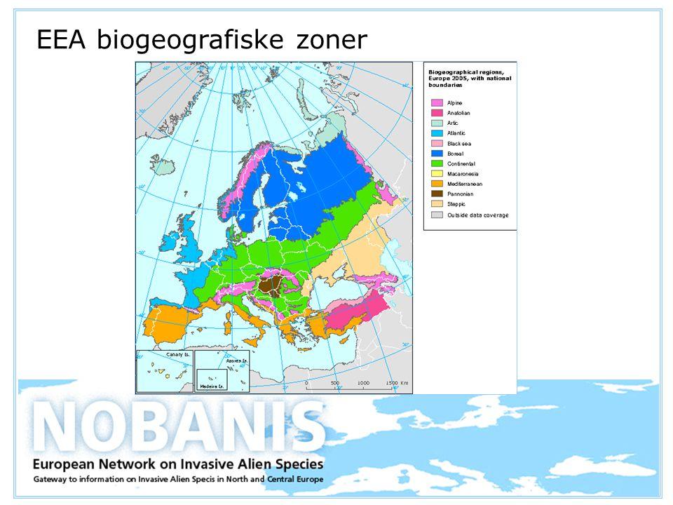 EEA biogeografiske zoner