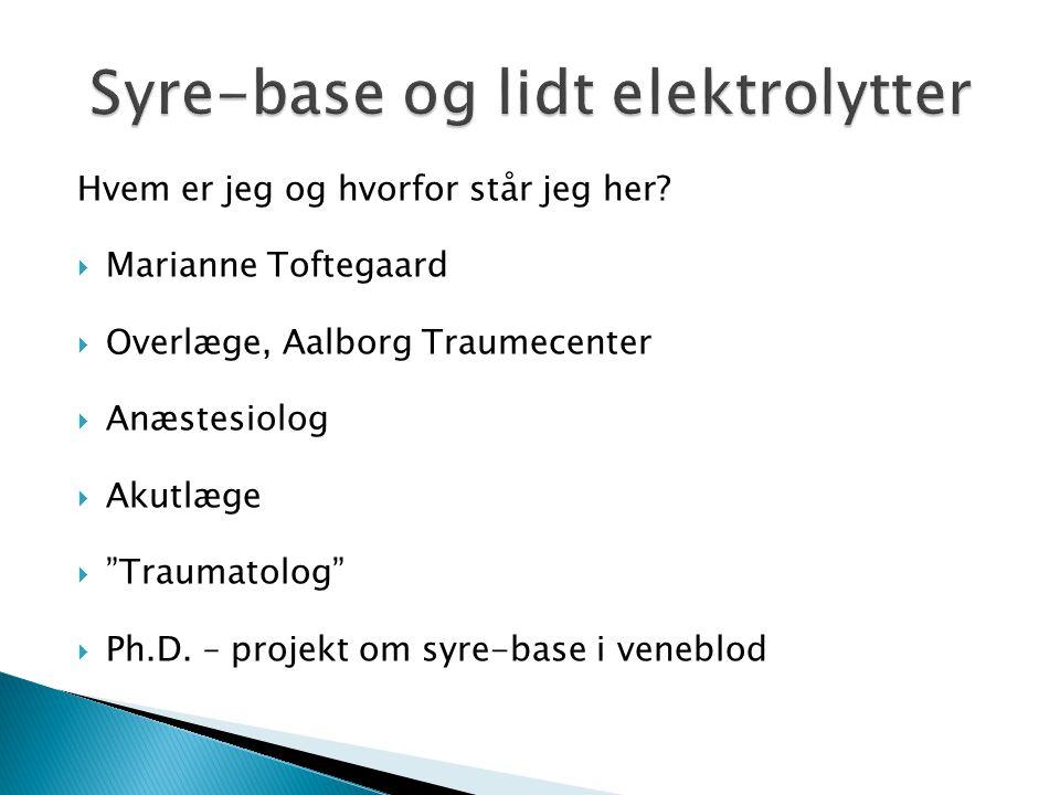 """Hvem er jeg og hvorfor står jeg her?  Marianne Toftegaard  Overlæge, Aalborg Traumecenter  Anæstesiolog  Akutlæge  """"Traumatolog""""  Ph.D. – projek"""