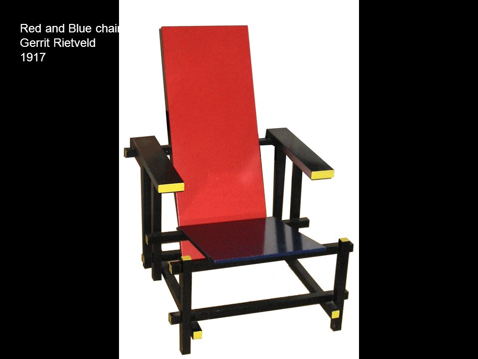 Red and Blue chair Gerrit Rietveld 1917