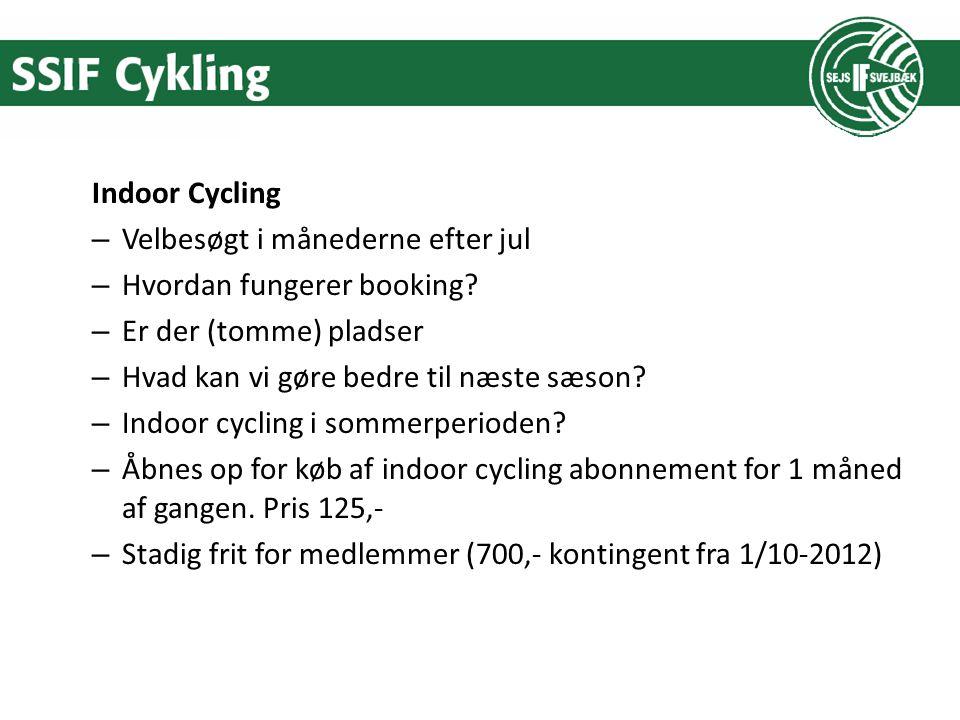 Indoor Cycling – Velbesøgt i månederne efter jul – Hvordan fungerer booking.