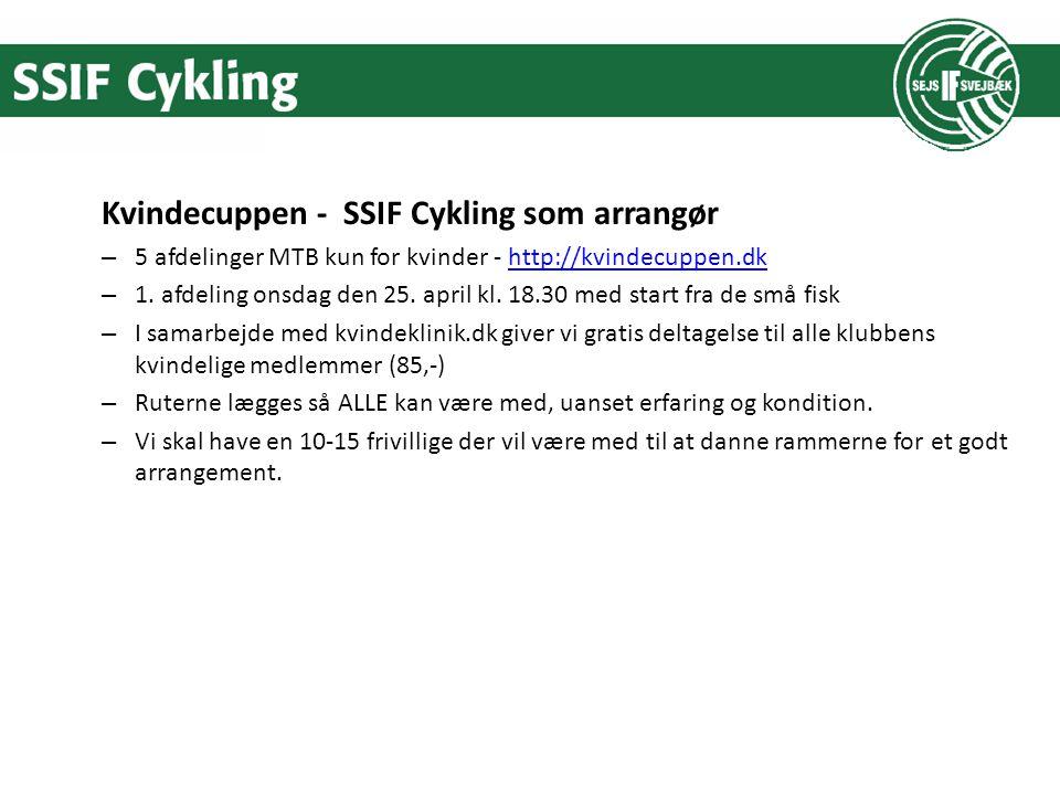 Kvindecuppen - SSIF Cykling som arrangør – 5 afdelinger MTB kun for kvinder - http://kvindecuppen.dkhttp://kvindecuppen.dk – 1.