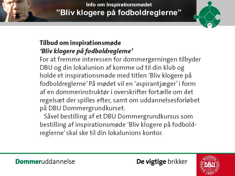 Info om Inspirationsmødet Bliv klogere på fodboldreglerne
