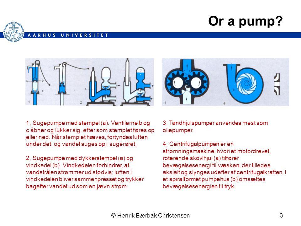 © Henrik Bærbak Christensen3 Or a pump. 1. Sugepumpe med stempel (a).