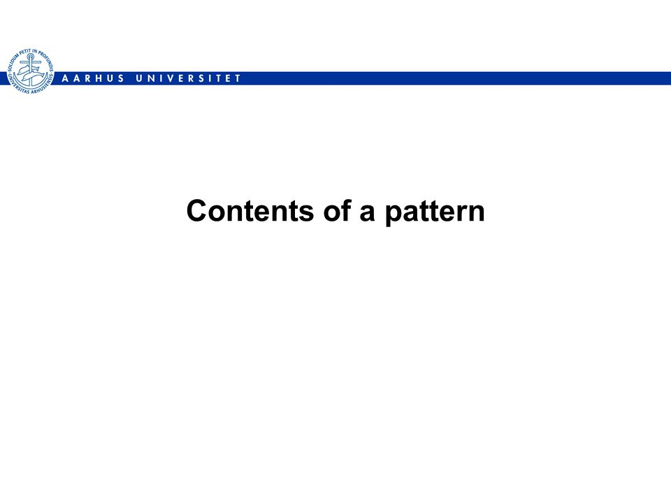 Contents of a pattern