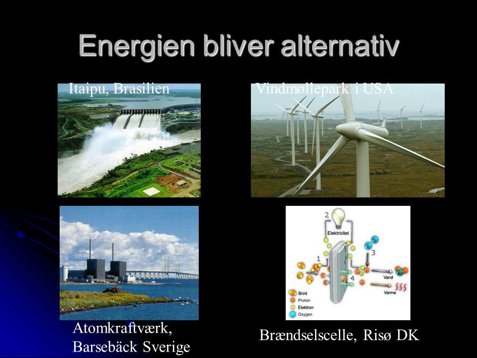 Itaipu, BrasilienVindmøllepark i USA Atomkraftværk, Barsebäck Sverige Brændselscelle, Risø DK