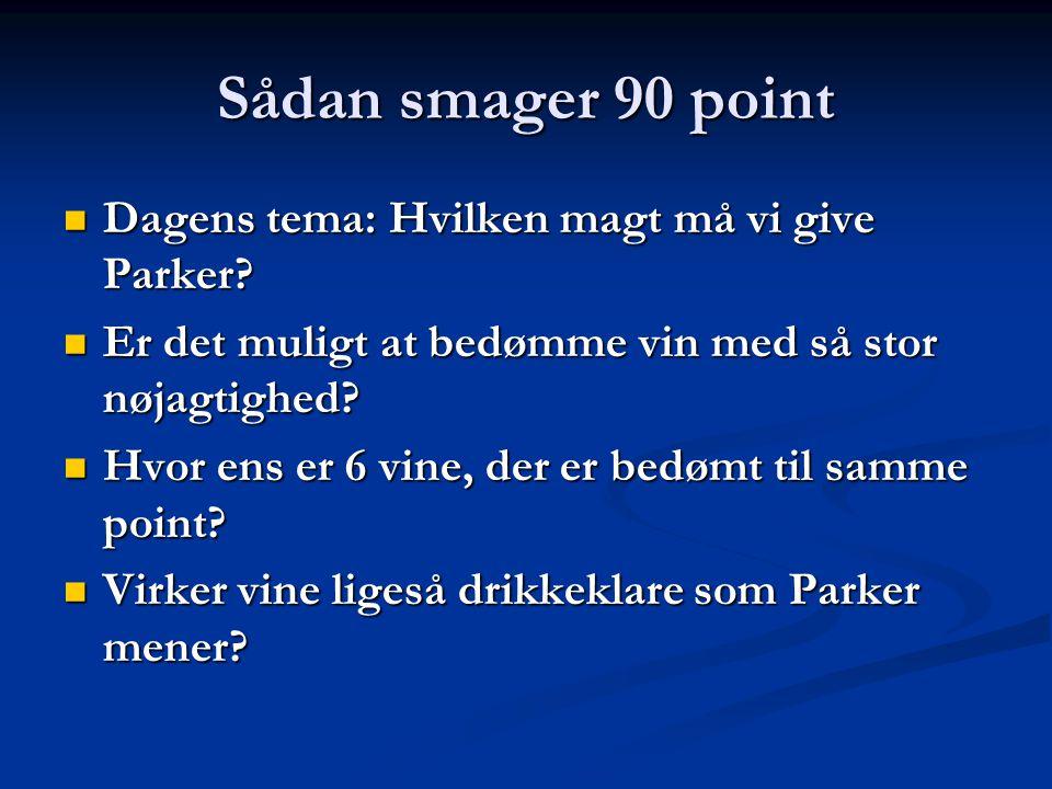 Sådan smager 90 point Dagens tema: Hvilken magt må vi give Parker.