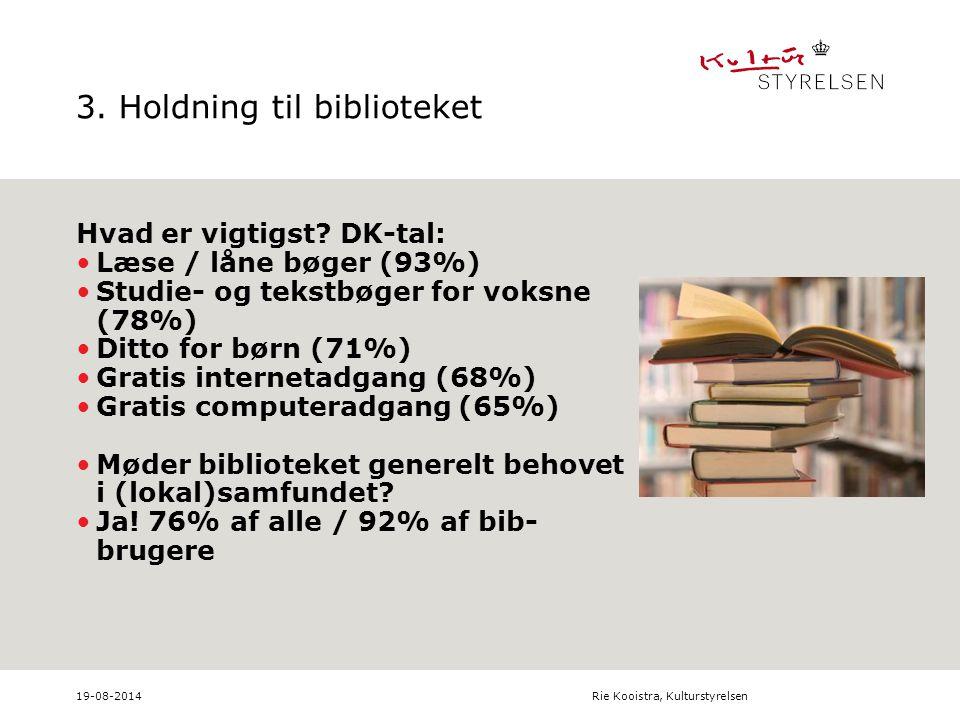3. Holdning til biblioteket Hvad er vigtigst.