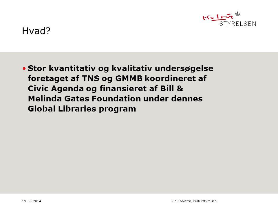 19-08-2014Rie Kooistra, Kulturstyrelsen Hvad.