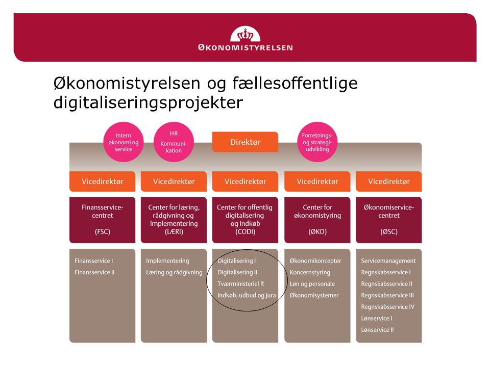 Økonomistyrelsen og fællesoffentlige digitaliseringsprojekter