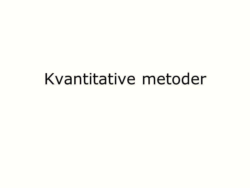 Kvantitative metoder
