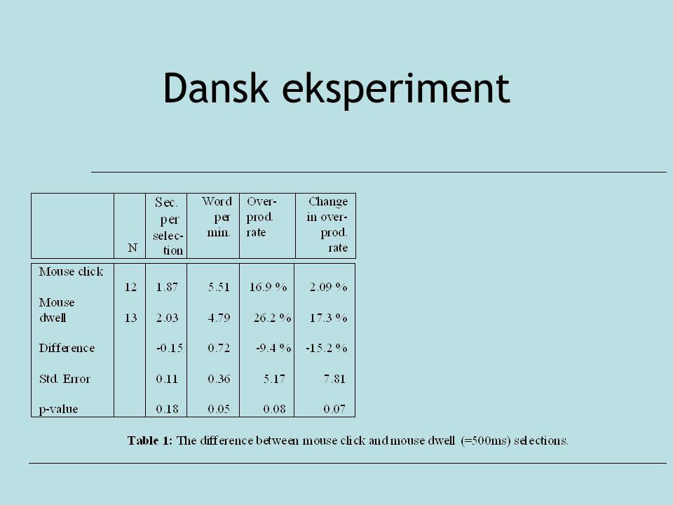 Dansk eksperiment