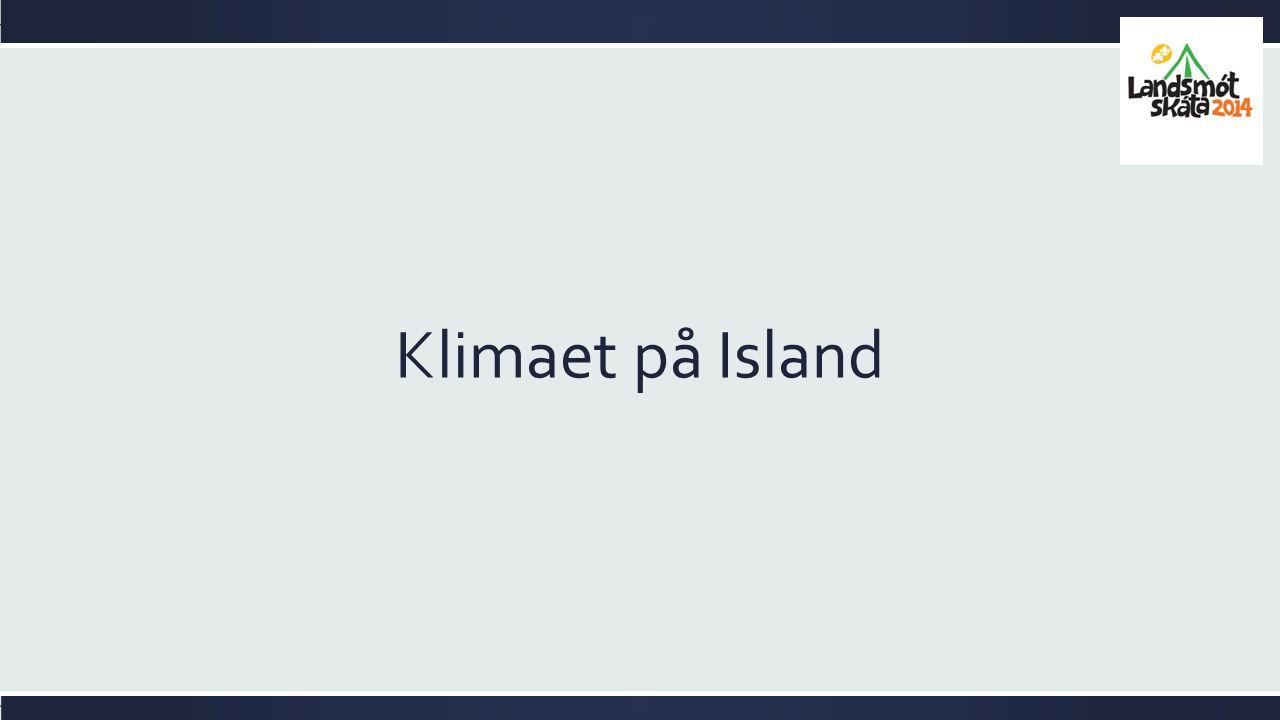 Klimaet på Island