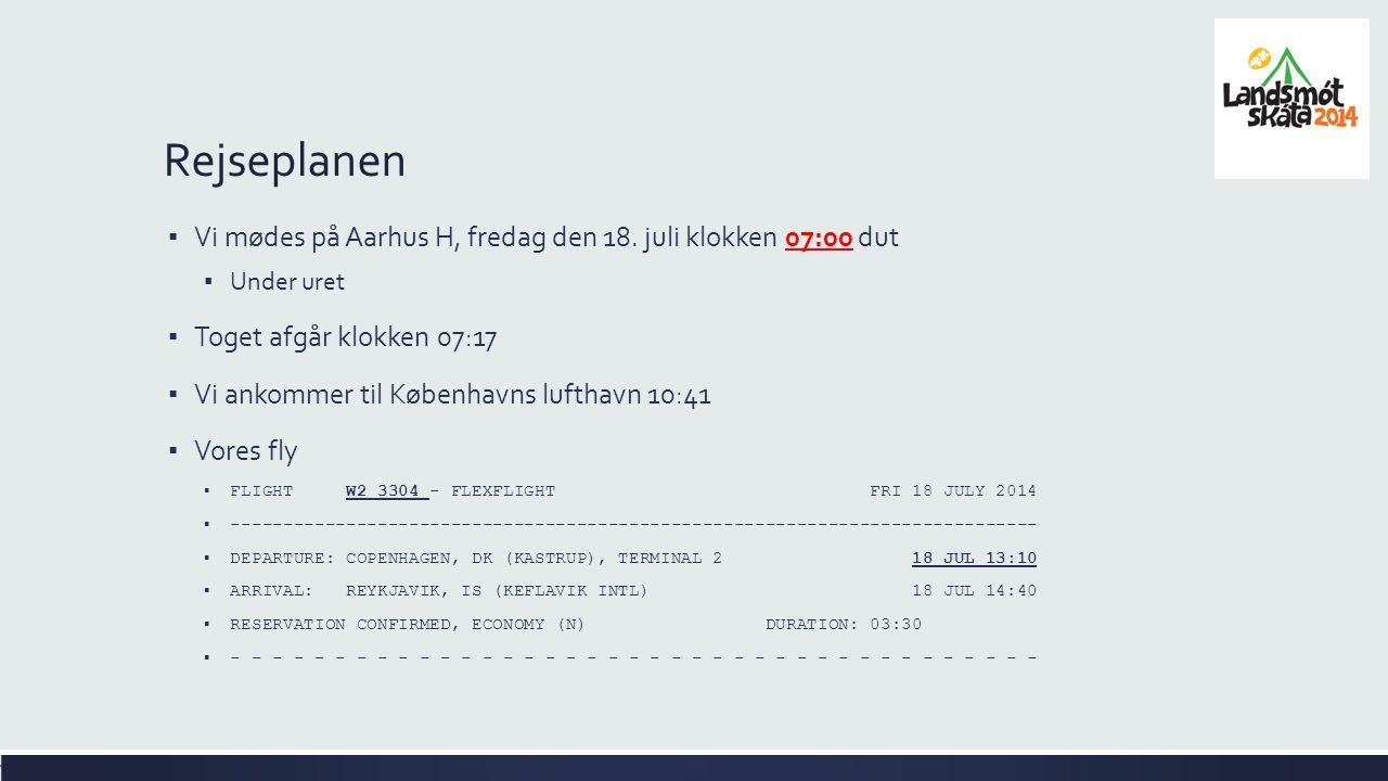 ▪ Vi mødes på Aarhus H, fredag den 18.