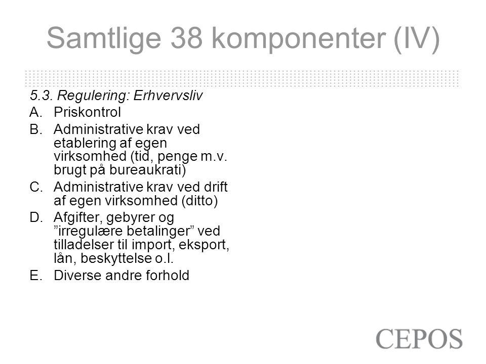 Samtlige 38 komponenter (IV) 5.3.