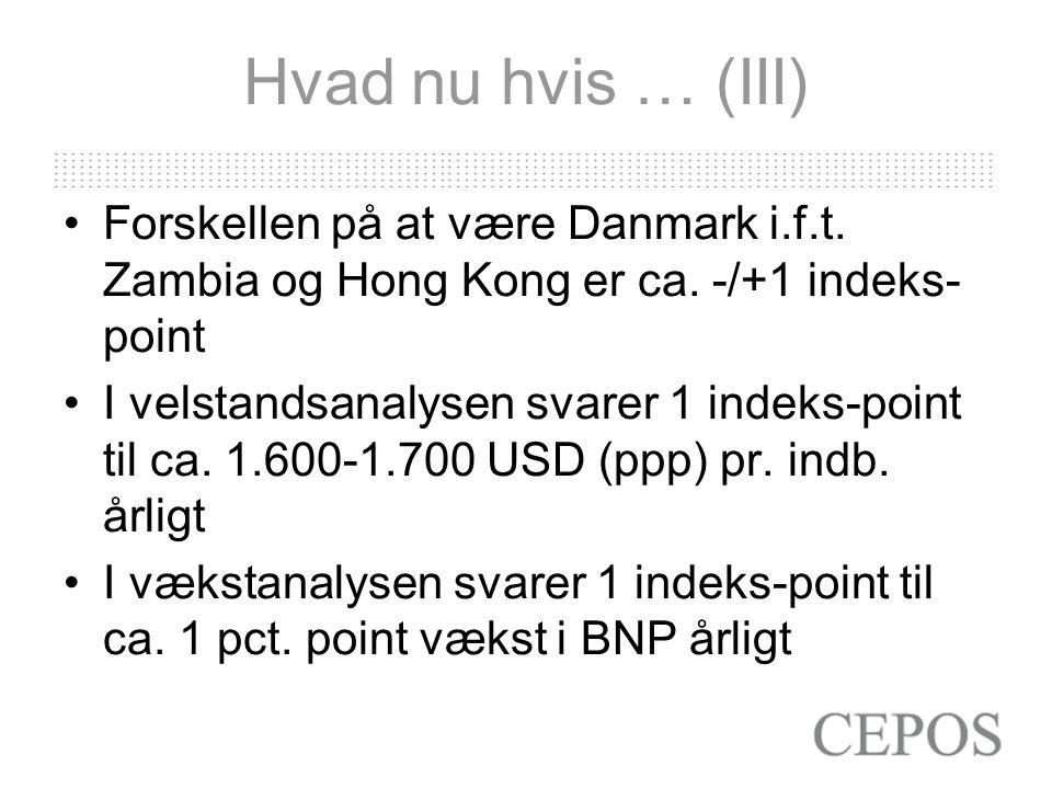 Hvad nu hvis … (III) Forskellen på at være Danmark i.f.t.