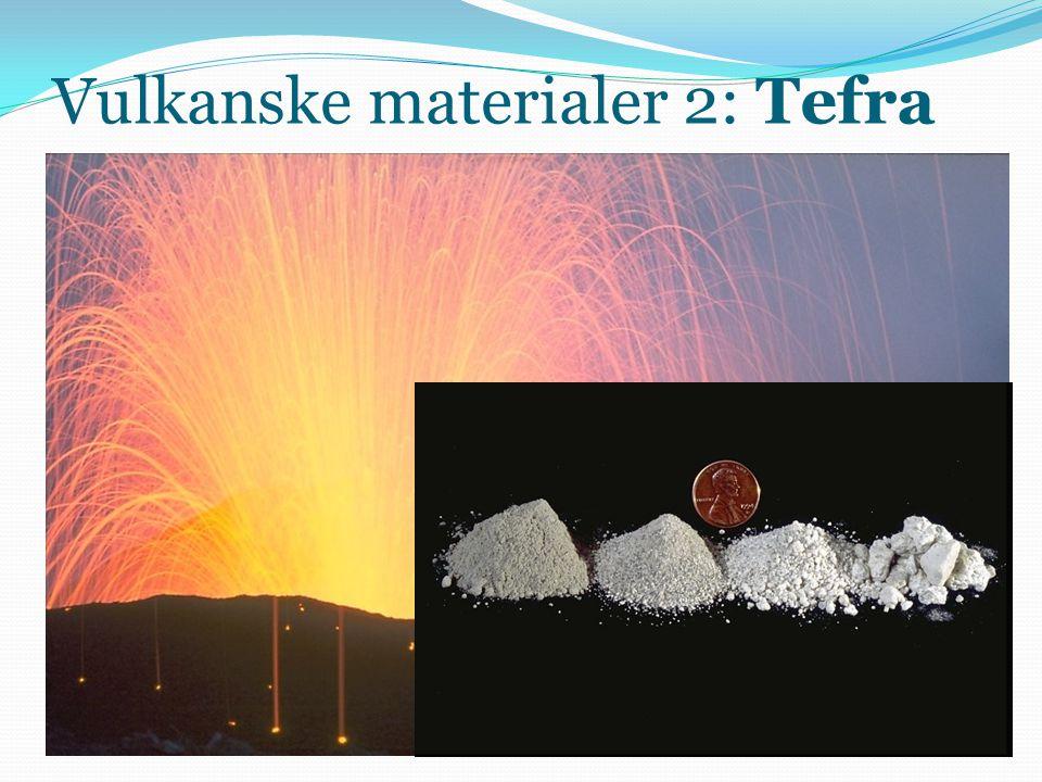 Vulkanske materialer 2: Tefra