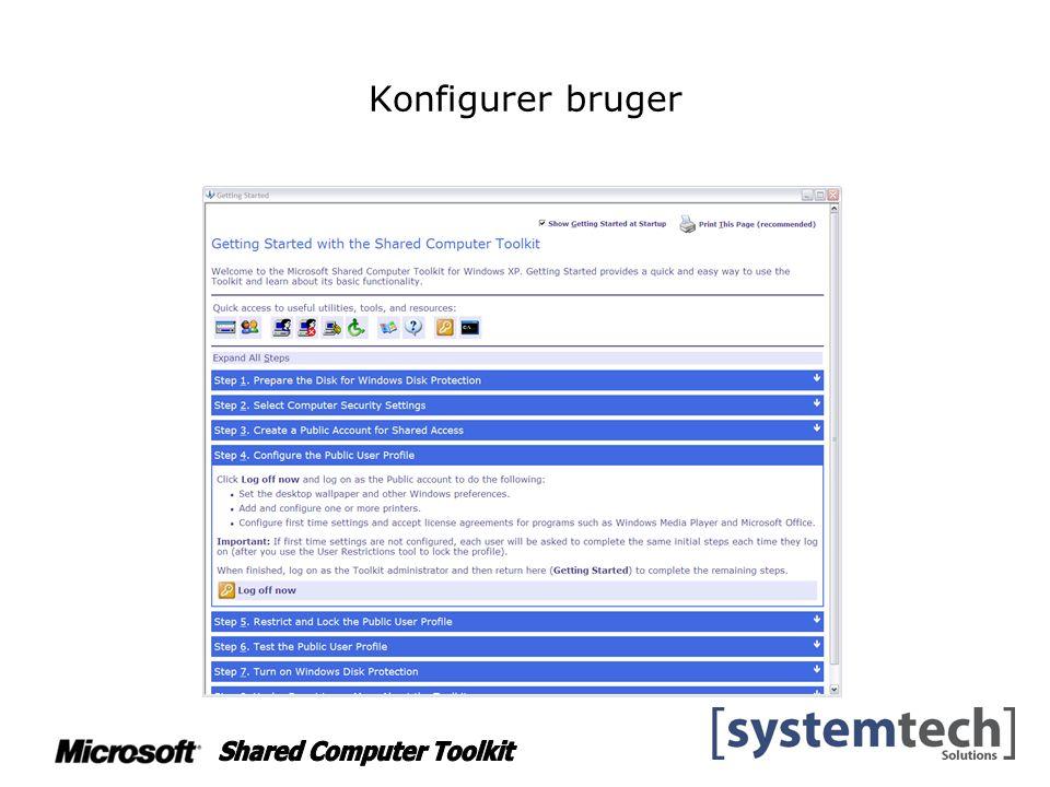 Konfigurer bruger
