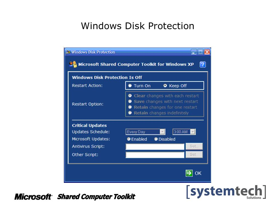 Windows Disk Protection