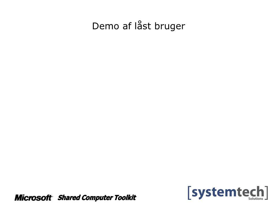 Demo af låst bruger