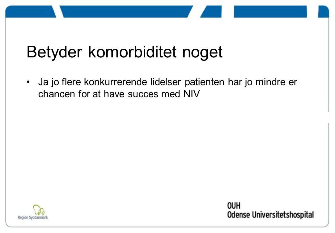 Betyder komorbiditet noget Ja jo flere konkurrerende lidelser patienten har jo mindre er chancen for at have succes med NIV