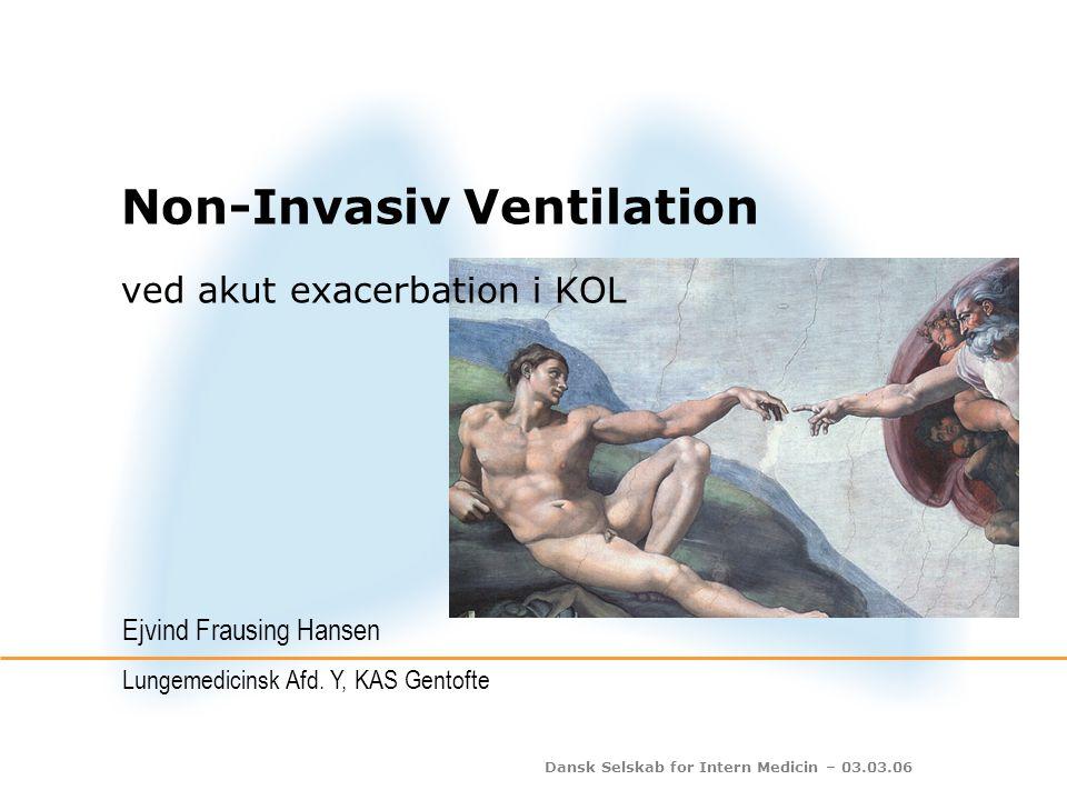 Dansk Selskab for Intern Medicin – 03.03.06 NIV og dødelighed n = 10 (622)