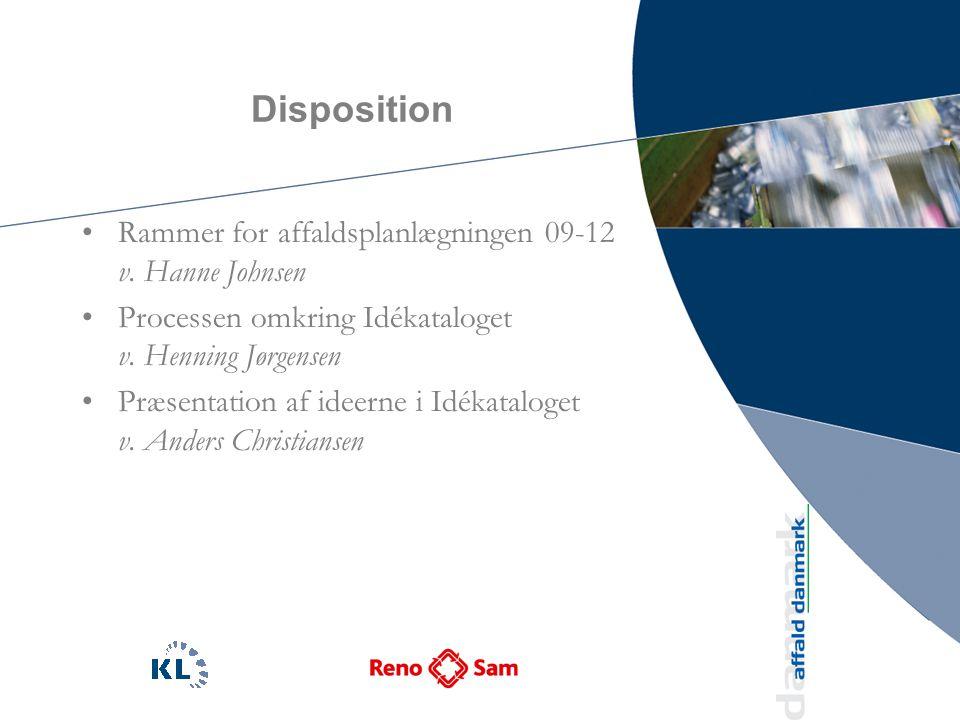 Disposition Rammer for affaldsplanlægningen 09-12 v.