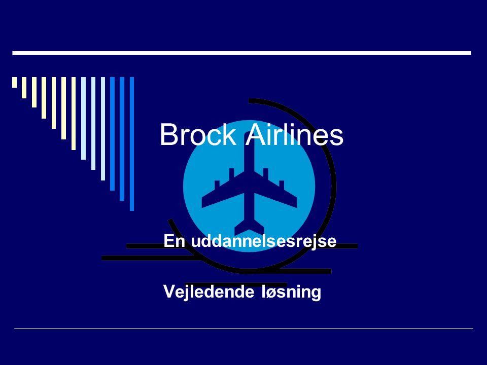 Brock Airlines En uddannelsesrejse Vejledende løsning