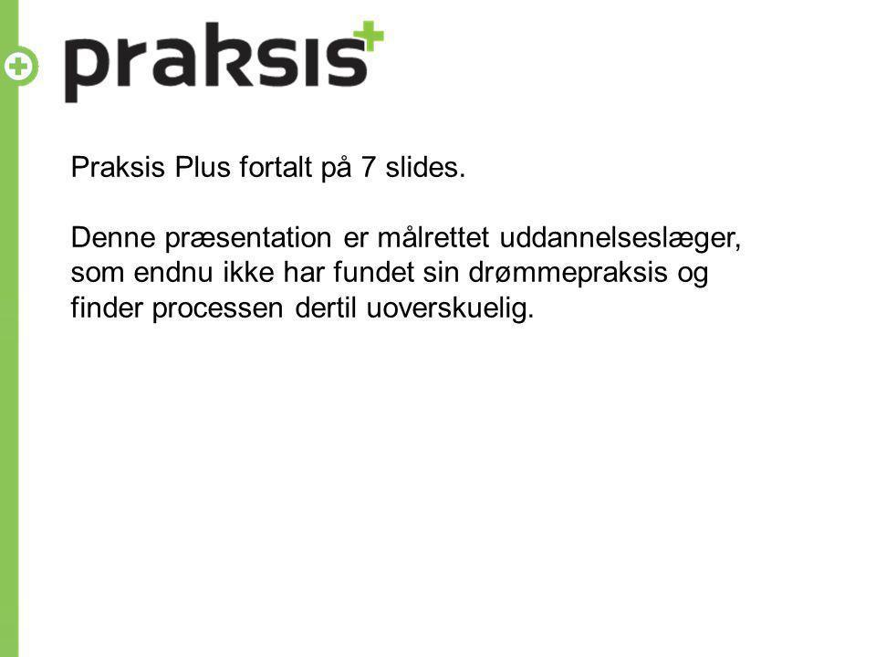 Praksis Plus fortalt på 7 slides.