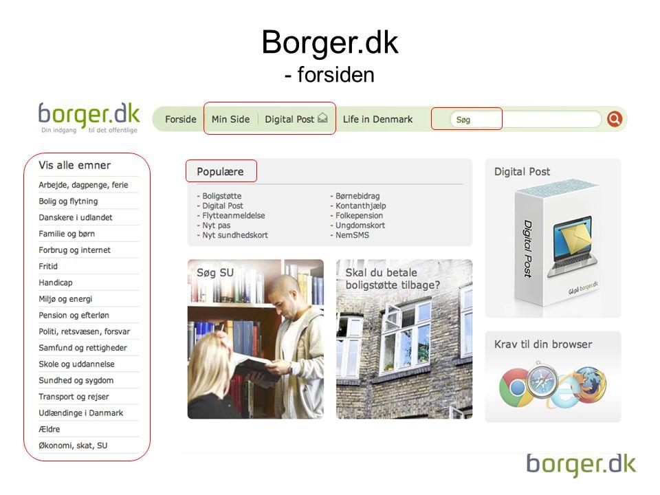 Borger.dk - forsiden
