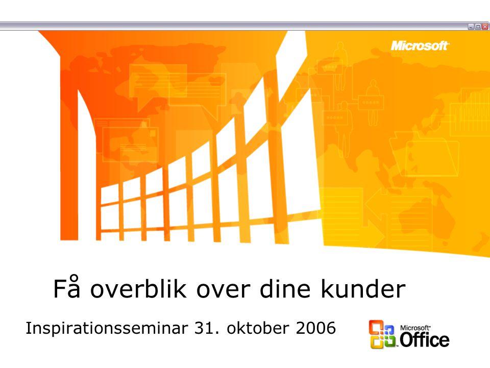 Få overblik over dine kunder Inspirationsseminar 31. oktober 2006