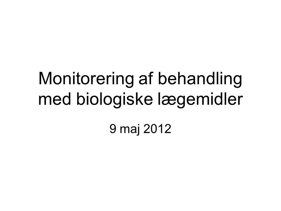 Monitorering af behandling med biologiske lægemidler 9 maj 2012