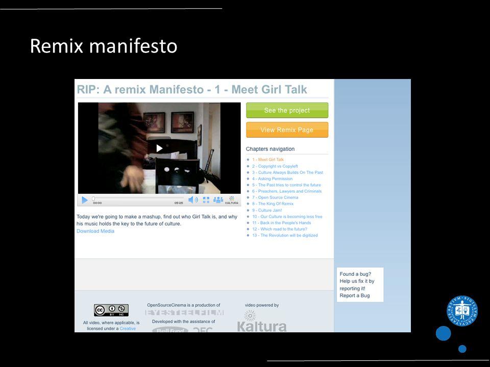Remix manifesto