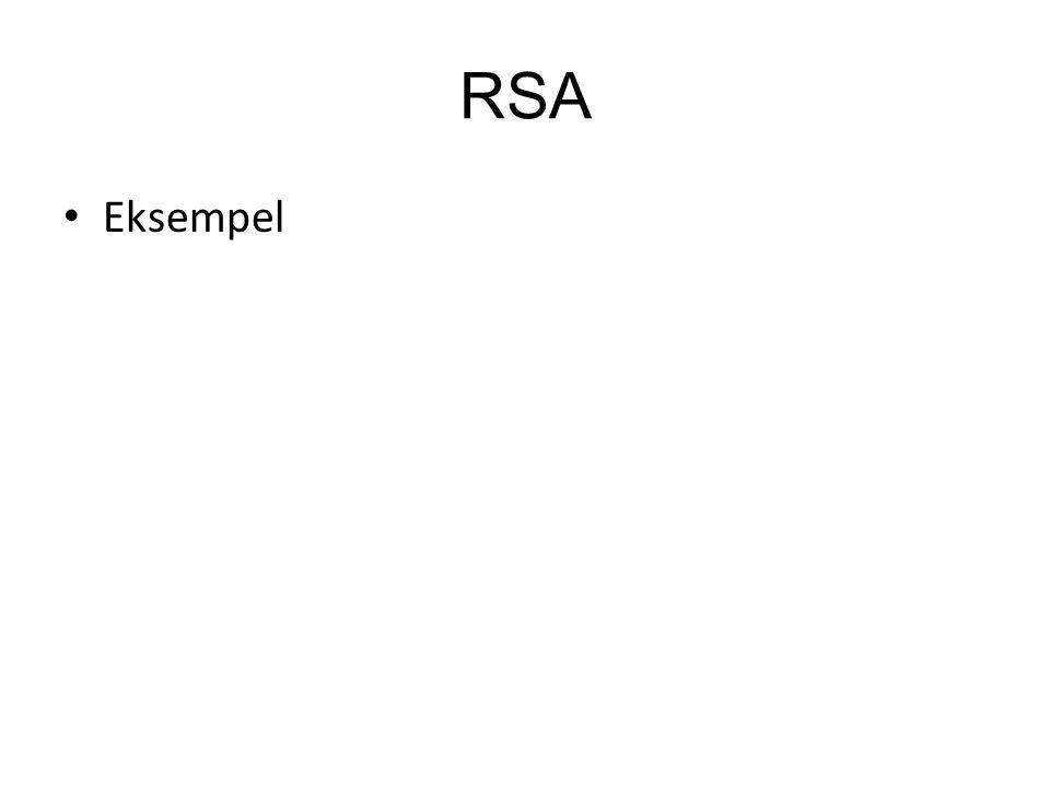 RSA Eksempel