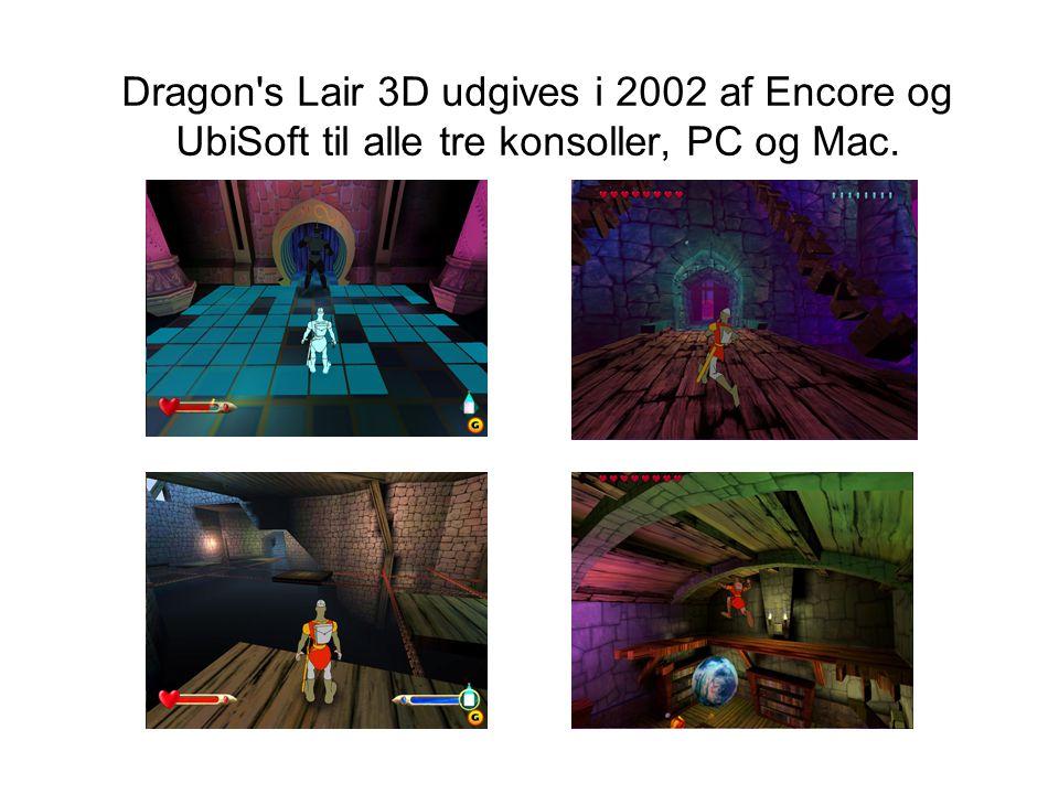 Dragon s Lair 3D udgives i 2002 af Encore og UbiSoft til alle tre konsoller, PC og Mac.