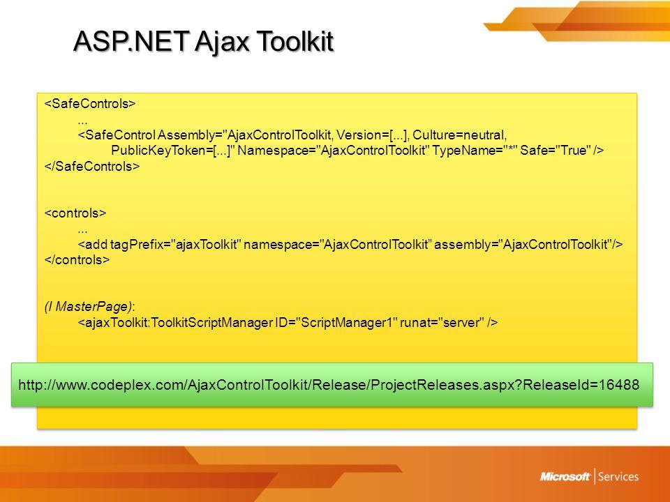 ASP.NET Ajax Toolkit...
