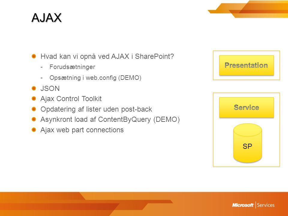 AJAX Hvad kan vi opnå ved AJAX i SharePoint.