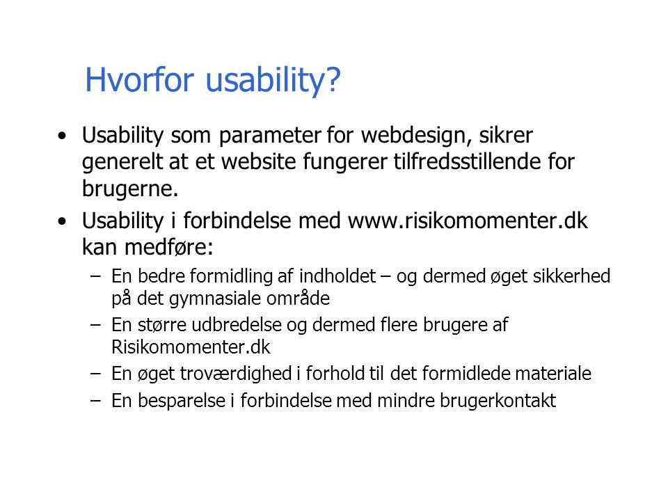 Hvorfor usability.