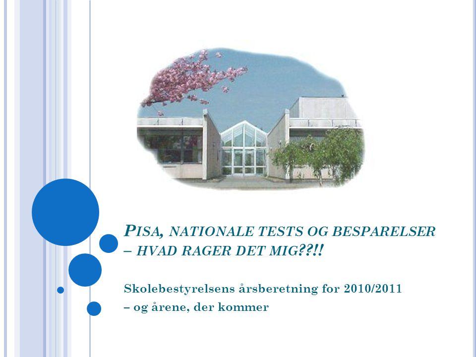 P ISA, NATIONALE TESTS OG BESPARELSER – HVAD RAGER DET MIG !.