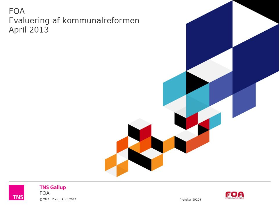 FOA © TNS Dato: April 2013 Projekt: 59209 FOA Evaluering af kommunalreformen April 2013